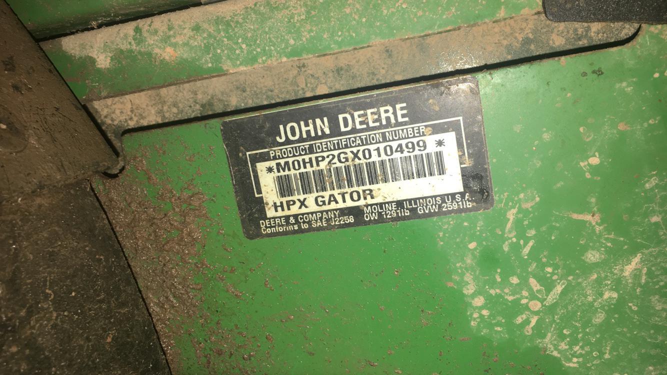 john deere gator year by serial number