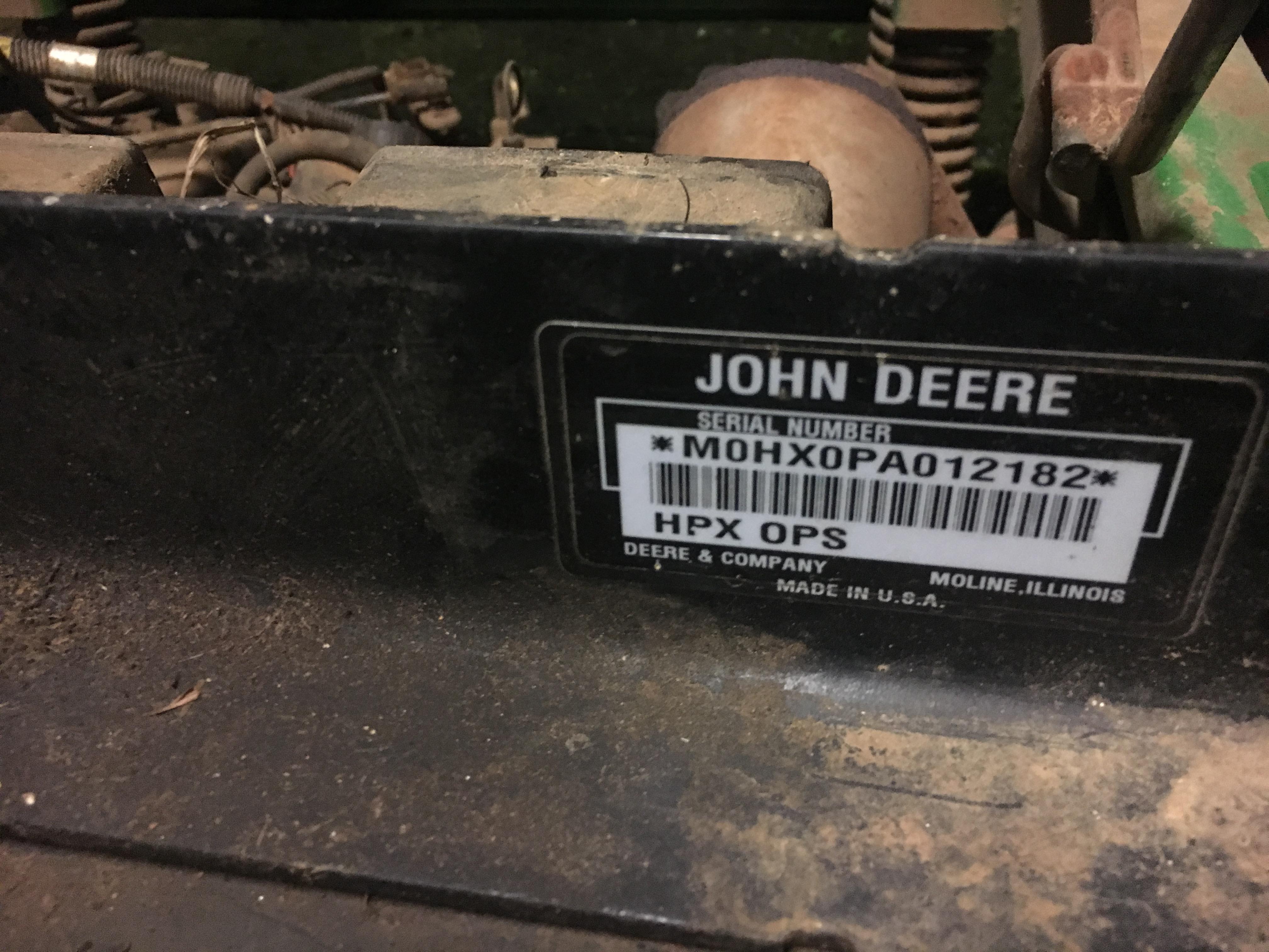 Please Help Decode Serial Number John Deere Gator Forums