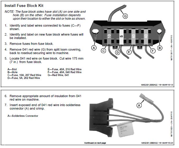 2013 RSX 850i fuse block - John Deere Gator Forums John Deere Gator Fuse Box Diagram on